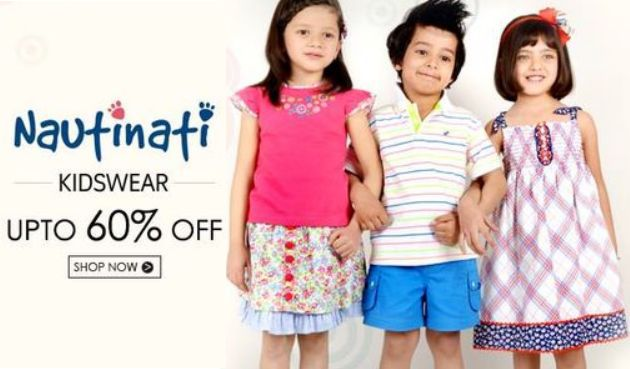 Get Nauti Nati Kids Clothing Min 50% off – 70% Off   at Rs 117 | Amazon Offer