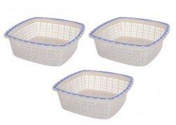 Get Nayasa Plastic Basket Set, Set of 3     at Rs 119 | Amazon Offer