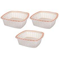 Get Nayasa Plastic Jingle No 2 Basket Set, Set of 3, Orange at Rs 106   Amazon Offer