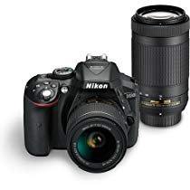 Get Nikon D5300 24.2MP Digital SLR Camera(Black) with AF-P 18-55 and AF-P DX NIKKOR 70-300mm f/4.5-6