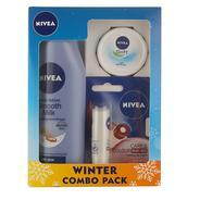 Get Nivea Smooth Body Milk Lotion, 200ml with Lip Care and Color, Ruby Red, 25ml and Soft Cream, 4.8