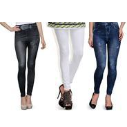 Get Oleva Multicolor Womens Pack Of 3 Jegging & Legging OLJC-3-15 at Rs 499 | Amazon Offer