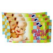 Get OM Baby Skincare Wet Wipes-240 Pcs ( Pack of 3) at Rs 297 | Amazon Offer