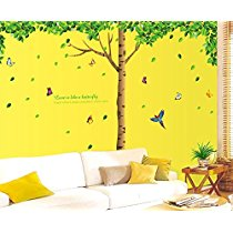 Get Oren Empower 3Pc/Set (Pack Of 3 Sheets) Extra Large Big Green Tree Wall Sticker (Finished Size O