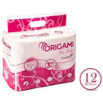 Get Origami So Soft 3 ply Toilet Tissue 12 rolls 160 pulls per at Rs 289 | Amazon Offer
