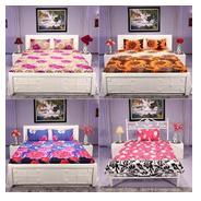 Get Pack of 3 Double & 1 Single Bedsheet By Azaani at Rs 1099 | homeshop18 Offer