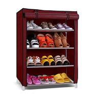 Get Paffy Steel Maroon 4 Shelves Shoe Rack at Rs 710 | Pepperfry Offer