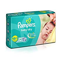 Get Pampers Baby Dry Diapers NB-Small Size (46 Count) at Rs 437 | Amazon Offer