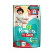Get Pampers Large Size Diaper Pants (68 Count) at Rs 542 | Amazon Offer