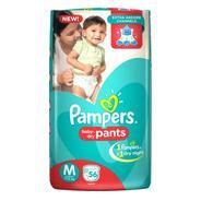 Get Pampers Pants Diapers - M (56 Pieces) at Rs 438 | Flipkart Offer