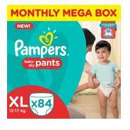 Get Pampers Pants Diapers Monthly Mega Box - XL (84 Pieces) at Rs 898 | Flipkart Offer