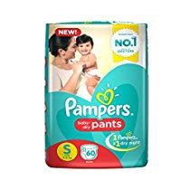 Get Pampers Small Size Diapers Pants (60 Count) at Rs 492 | Amazon Offer