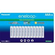 Get Panasonic BK-4MCCA12BA Eneloop AAA 2100 Cycle Ni-MH Pre-Charged Rechargeable Batteries, 12 Pack