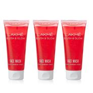 Get Pantry - Lakme Blush and Glow Strawberry Gel Face Wash, 100g (Pack of 2) with Free Lakme Blush a