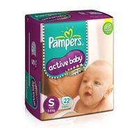 Get Pantry - Pampers Active Baby Small Size Diapers (22 Count) at Rs 209 | Amazon Offer