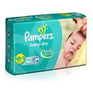 Get (Pantry) Pampers Baby Dry Diapers NB-Small Size (46 Count) at Rs 508 | Amazon Offer