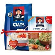 Get Pantry - Quaker Oats, 1kg with Free Quaker Nutri Oats Worth Rupees 45 at Rs 143 | Amazon Offer