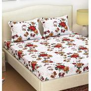 Get Paradise 105 TC Cotton Queen Size Bed Sheet with 2 Pillow Covers by Azaani at Rs 199 | Pepperfry