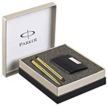 Get Parker Vector Gold Trim Roller Ball Pen and Ball Pen Luxury Gift Set, Blue Ink at Rs 799 | Amazo
