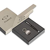 Get Parker Vector Spark Black Special Edition Roller Ball Pen Gift Set – with Round Key Chain at R