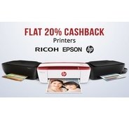 Get Paytm Wow Sale - Printers & Office Electronics Flat 20% Cashback | Paytm Offer