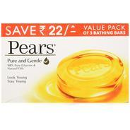 Get Pears Pure and Gentle Soap Bar, 125g (Pack of 3) at Rs 144 | Amazon Offer
