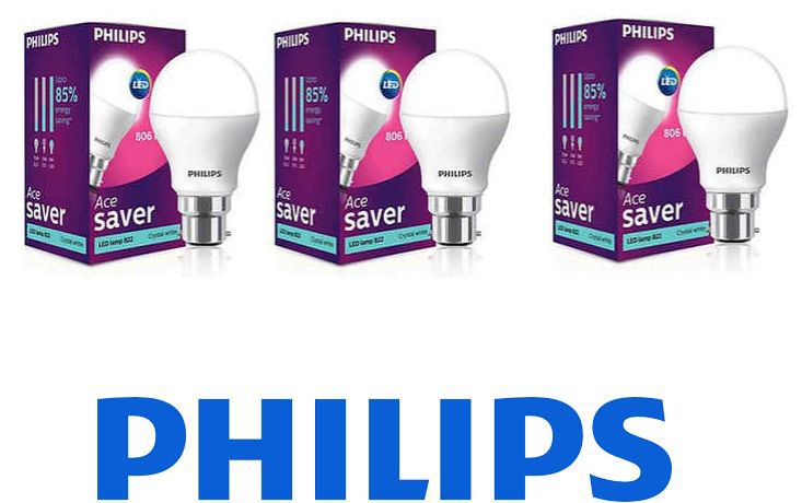 Get Philips White 9W LED Bulb Set of 3      at Rs 357   Pepperfry Offer