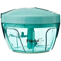 Get Pigeon by Stovekraft New Handy Plastic Chopper with 3 Blades, Green at Rs 283   Amazon Offer