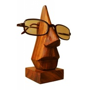 Get Pindia Hand Crafted Wood Spectacle Holder (6 inch, Brown) at Rs 124 | Amazon Offer