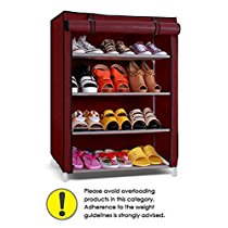 Get Pindia Shoe cabinet , 4-5 Layer Maroon Shoe Rack Organizer at Rs 793   Amazon Offer
