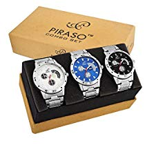 Get PIRASO Pack of 3 Multicolour Analog Analog Watch for Me at Rs 539 | Amazon Offer
