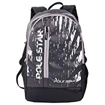 Get POLE STAR ICON 30 Lt Black Casual Travel Backpack at Rs 449 | Amazon Offer