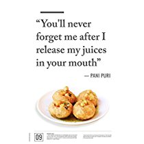 Get PosterGully – Junk Food Seduction Pani Puri | Gol gappe at Rs 159 | Amazon Offer