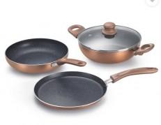 Get Prestige Omega Festival Pack Aluminium Cookware Set of 3      at Rs 1099 | Flipkart Offer