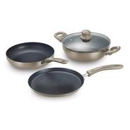 Get Prestige Omega Festival Pack - Build Your Kitchen Set Induction Bottom Cookware Set (Aluminium,