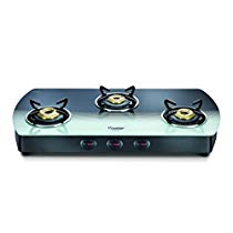 Get Prestige Premia Glass 3 Burner Gas Stove (Black and White) at Rs 7499 | Amazon Offer