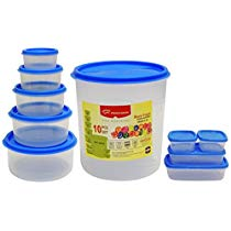 Get Princeware SF Package Container Set, 10-Pieces, Blue at Rs 301 | Amazon Offer