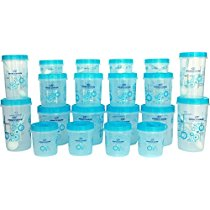 Get Princeware SF Packing Plastic Container Set, 17-Pieces, Orange at Rs 321 | Amazon Offer