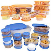 Get Princeware Store Fresh SF Package Container Set 18-Pieces Blue      at Rs 229 | Amazon Offer