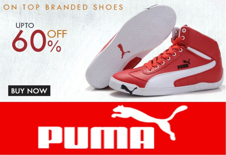 Get Puma Footwear 50% off to 70% off   at Rs 239 | Amazon Offer