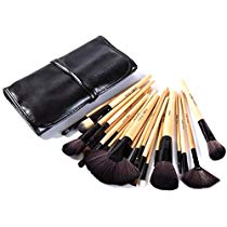 Get Puna Store Makeup Brush Set 24 Pieces with Black PU Leather at Rs 549 | Amazon Offer