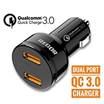 Get Qualcomm CertifiedQuick Charge 3.0 36W REGOR Dual Port Car Charger at Rs 399 | Amazon Offer