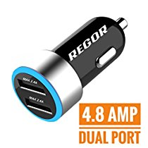 Get Regor 4.8Amp 2 Port HiSpeed Car Charger at Rs 535 | Amazon Offer