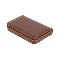 Get RiaTech® Stylish Pocket Sized Stitched Leather Visiting Card Holder ( Coffee Brown) at Rs 359 |