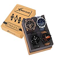 Get Rich Club Pack of 4 Multicolour Analog Analog Men at Rs 499 | Amazon Offer