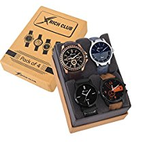 Get Rich Club Pack Of 4 Multicolour Analog Analog Watch at Rs 597 | Amazon Offer