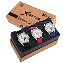 Get Rich Club RC-2252 Combo Of 3 Diamond Studded Analog Watch at Rs 519 | Amazon Offer