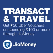 Get Rs.50 Uber Voucher On Payment Via JioMoney | jiomoney Offer