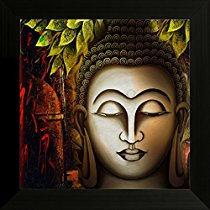Get SAF 'Buddha' Religious UV Textured Framed Painting ( 34 cm x 2 cm x 34 cm) at Rs 209 | Amazo
