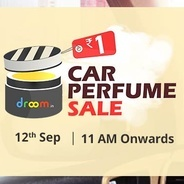 Get Sale Live - Droom Car Perfume Sale Rs.1 at Rs 1   droom Offer